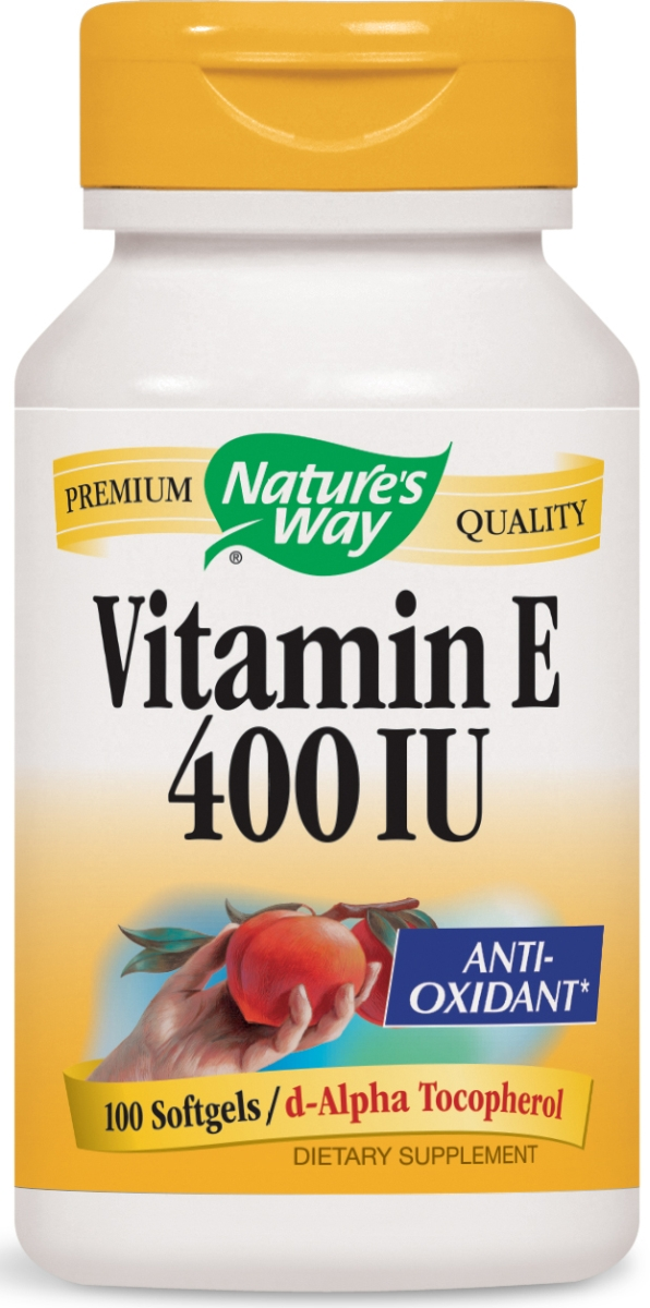 Vitamin E-400 100% Natural 100 sgels by Nature's Way