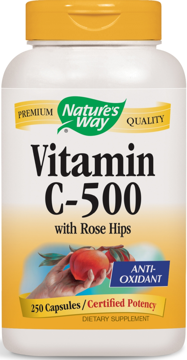 Vitamin C-500 with Rose Hips 250 caps by Nature's Way