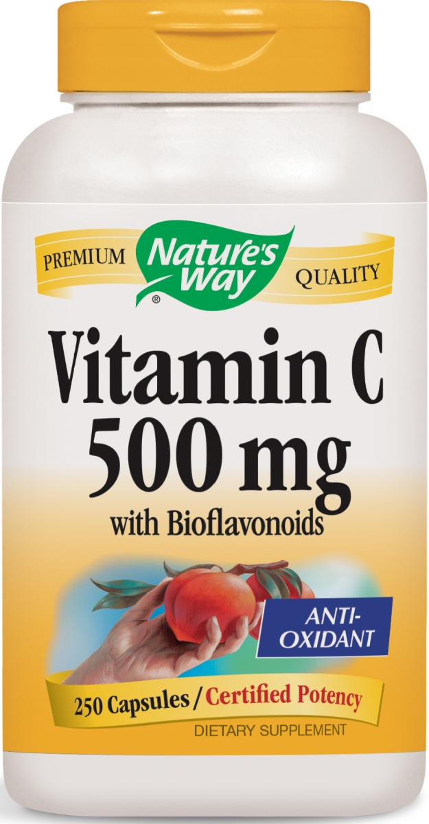 Vitamin C-500 with Bioflavonoids 250 caps by Nature's Way