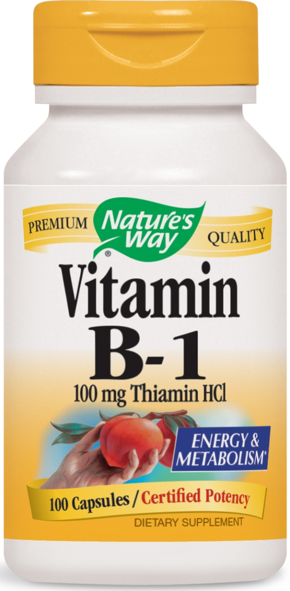 Vitamin B-1 Thiamin HCl 100 mg 100 caps by Nature's Way