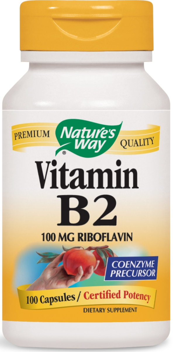 Vitamin B2 Riboflavin 100 mg 100 caps by Nature's Way