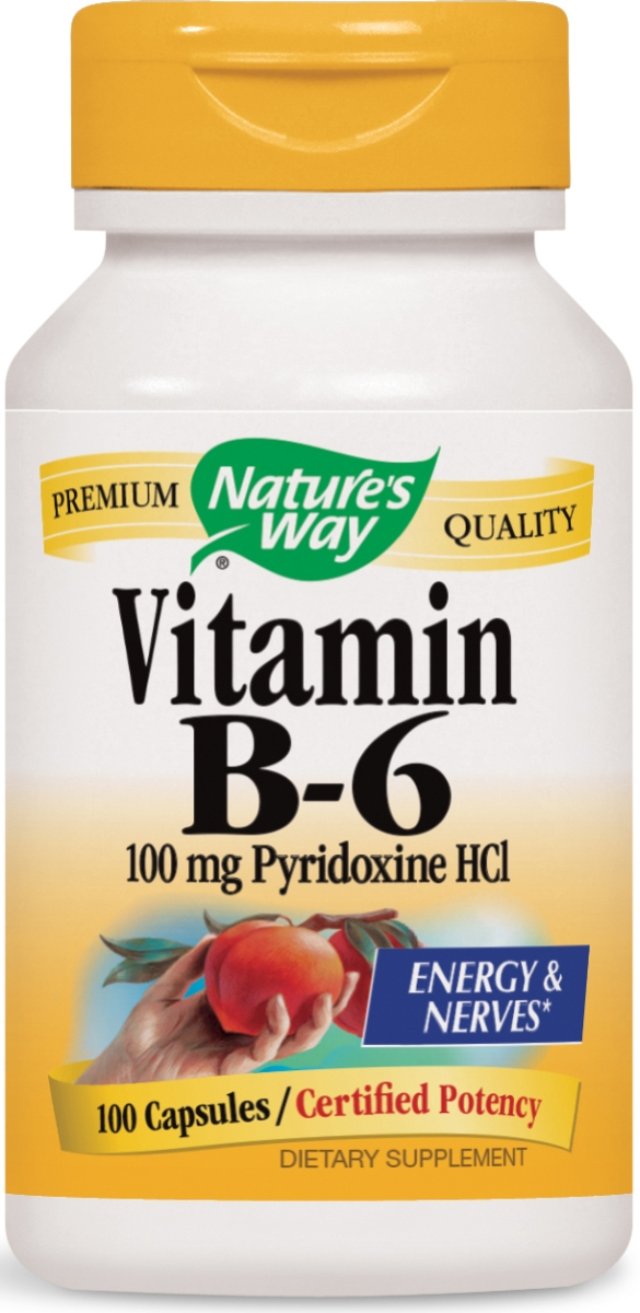 Vitamin B-6 Pyridoxine HCl 100 mg 100 caps by Nature's Way