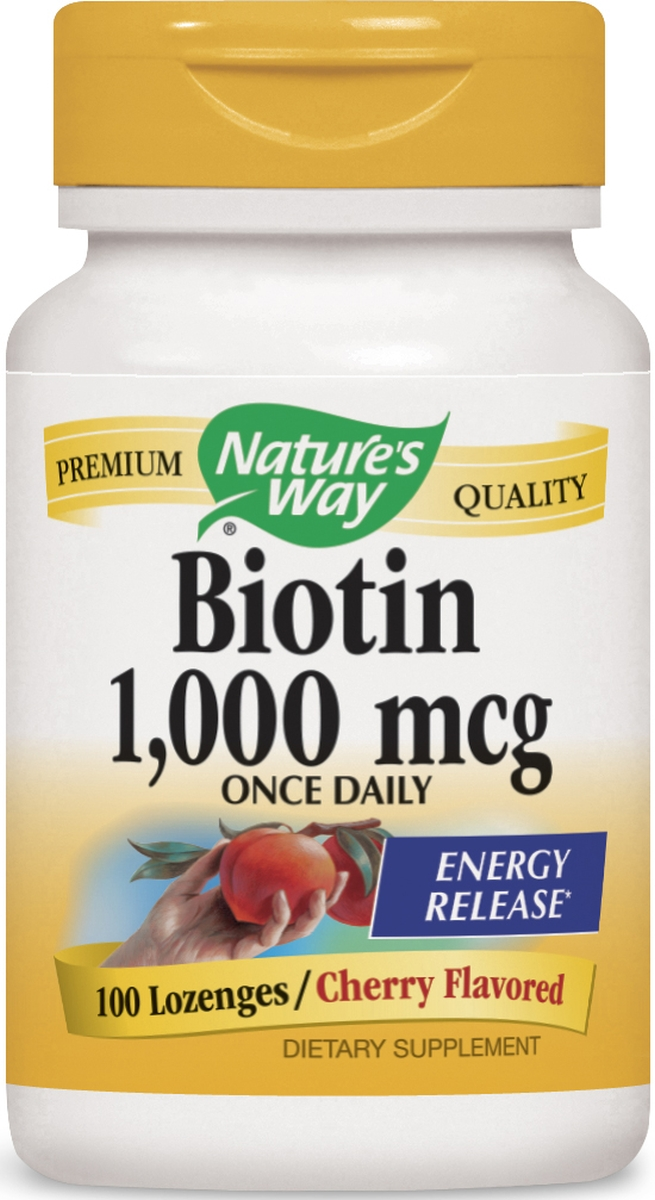 Biotin 1000 mcg 100 Lozenges by Nature's Way