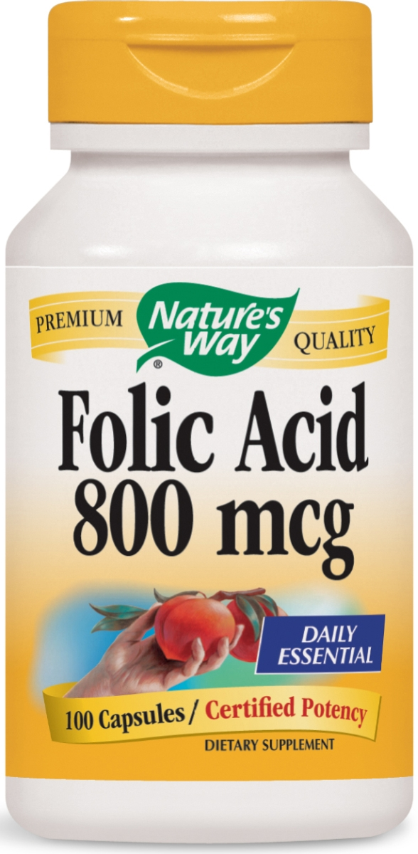 Folic Acid 800 mcg 100 caps by Nature's Way