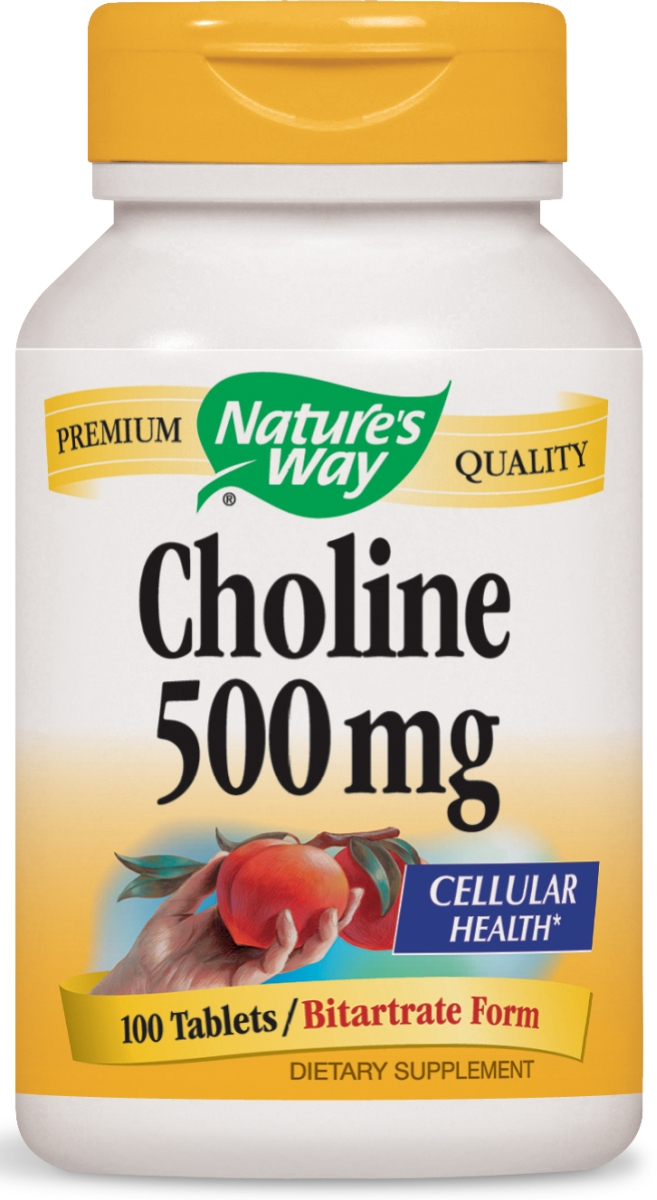 Choline Bitartrate 500 mg 100 tabs by Nature's Way