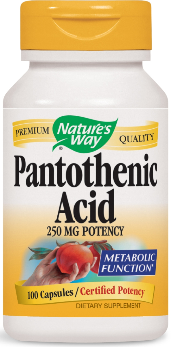 Pantothenic Acid 250 mg 100 caps by Nature's Way
