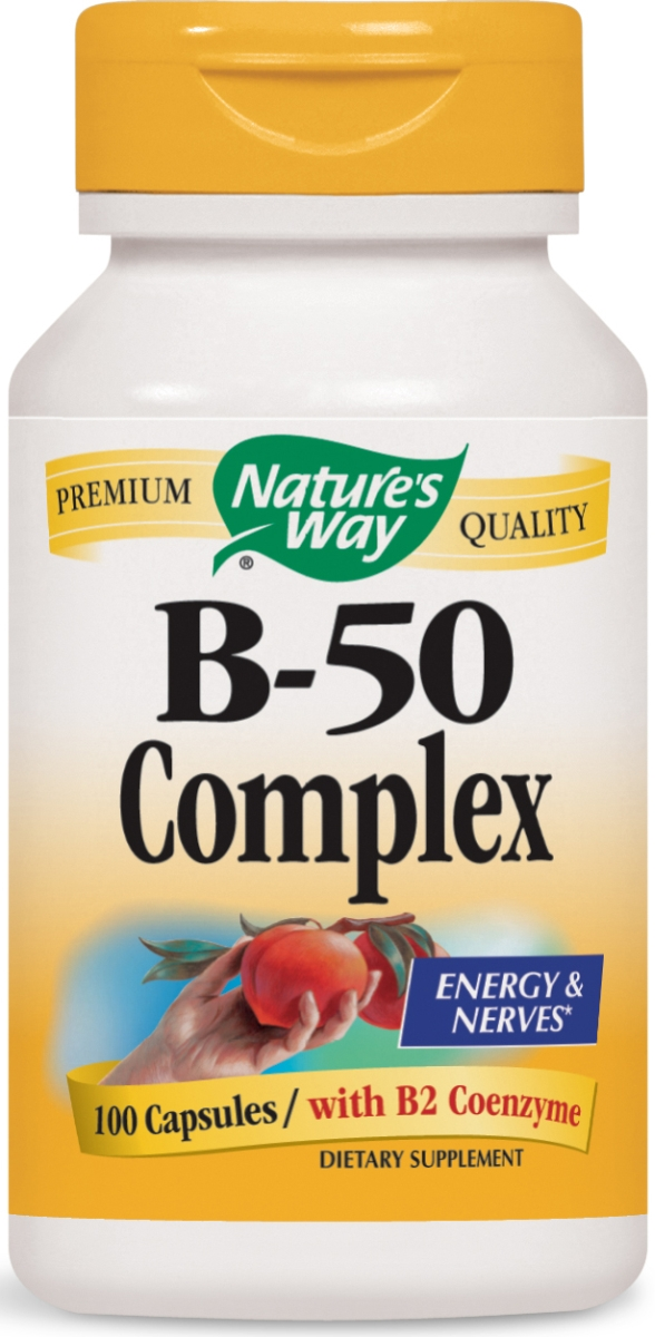 B-50 Complex with B2 Coenzyme 100 caps by Nature's Way