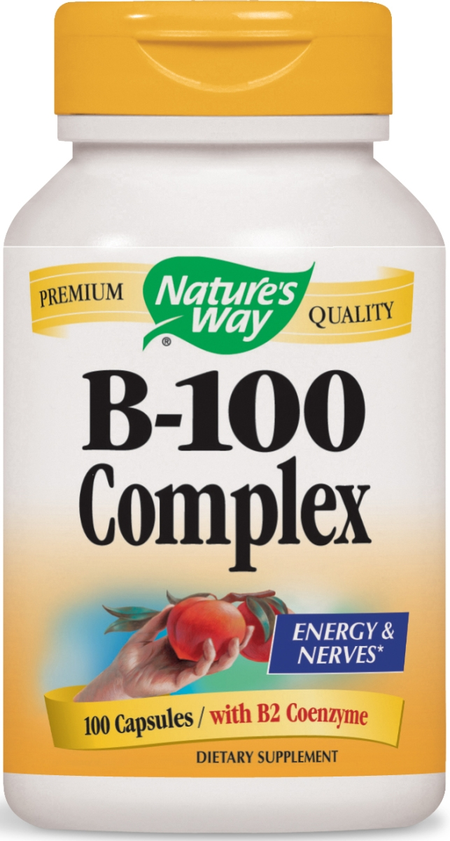 B-100 Complex with B2 Coenzyme 100 caps by Nature's Way