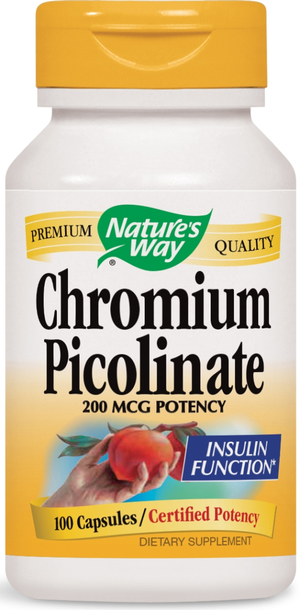 Chromium Picolinate 200 mcg 100 caps by Nature's Way