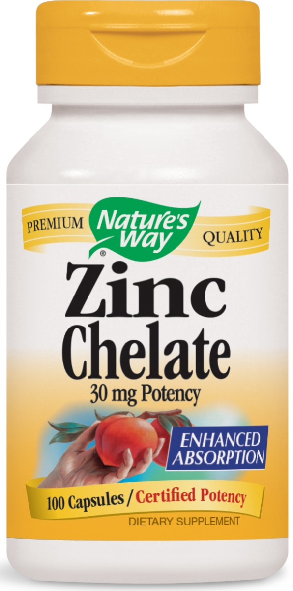 Zinc Chelate 30 mg 100 caps by Nature's Way
