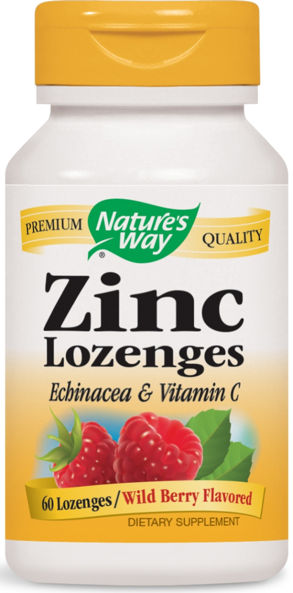 Zinc Lozenges Natural Berry Flavor 60 Lozenges by Nature's Way