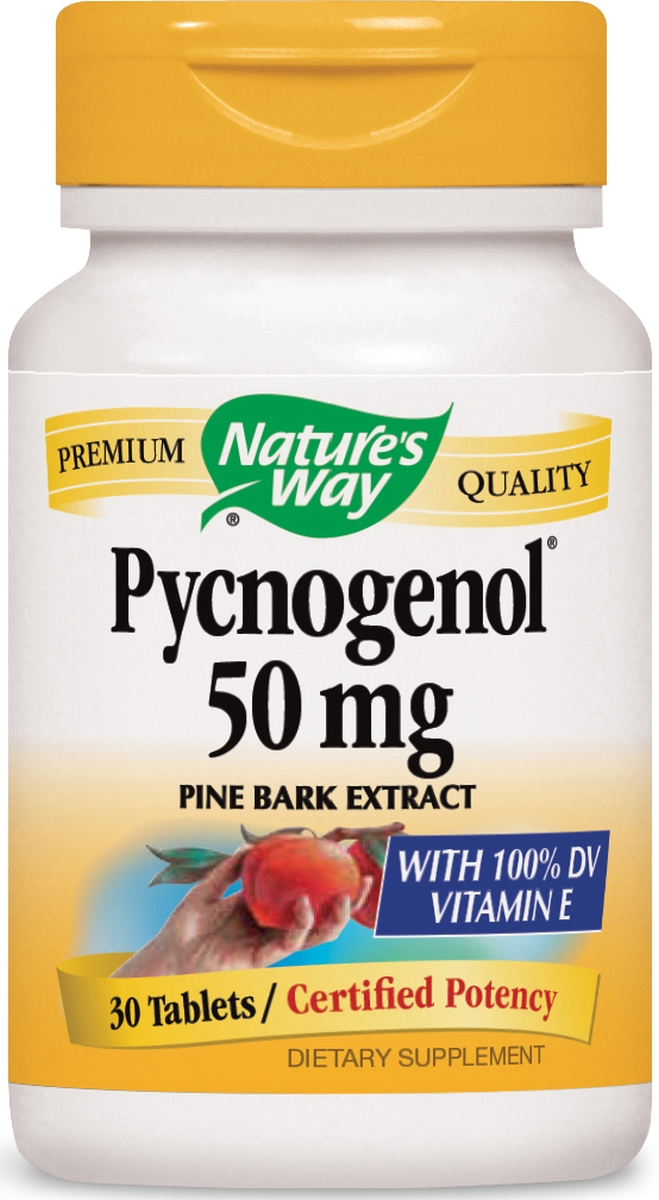 Pycnogenol Pine Bark Extract 50 mg 30 tabs by Nature's Way