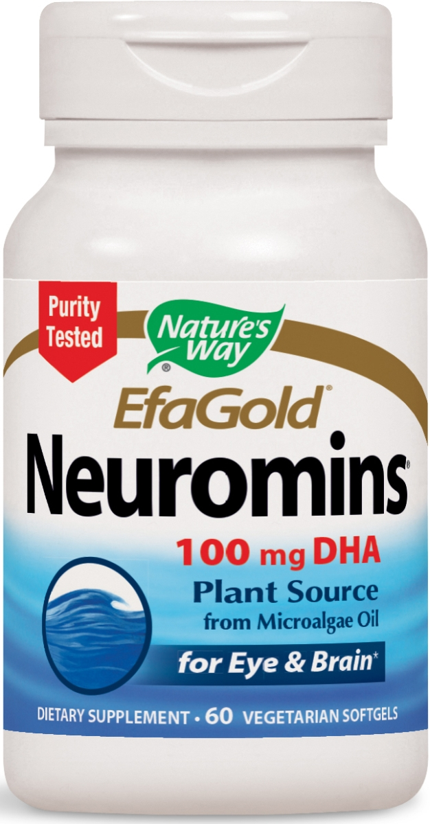 EfaGold Neuromins 100 mg 60 Vegetarian Softgels by Nature's Way