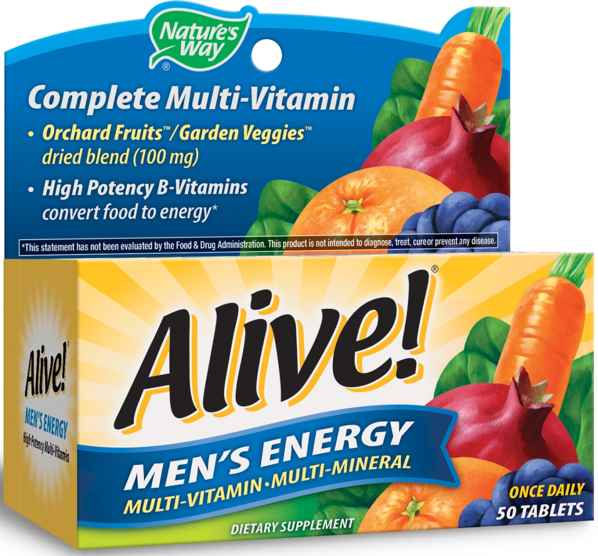 Alive! Men's Energy 50 tabs by Nature's Way