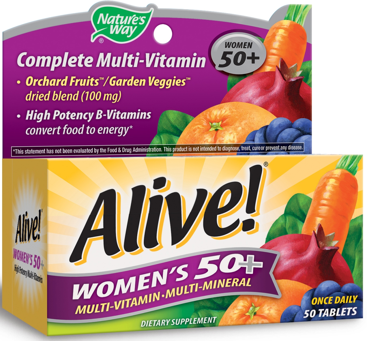 Alive! Women's 50+ Multivitamin-Multimineral 50 tabs by Nature's Way
