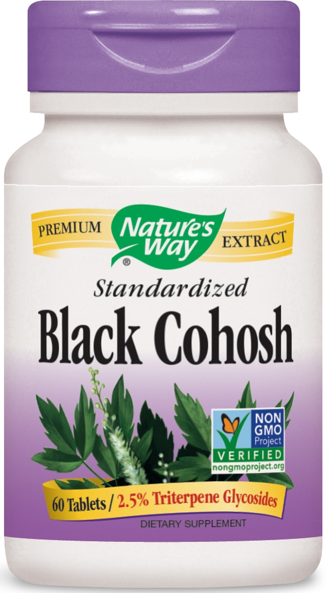 Black Cohosh Standardized Extract 60 tabs by Nature's Way (expires 09/2015)
