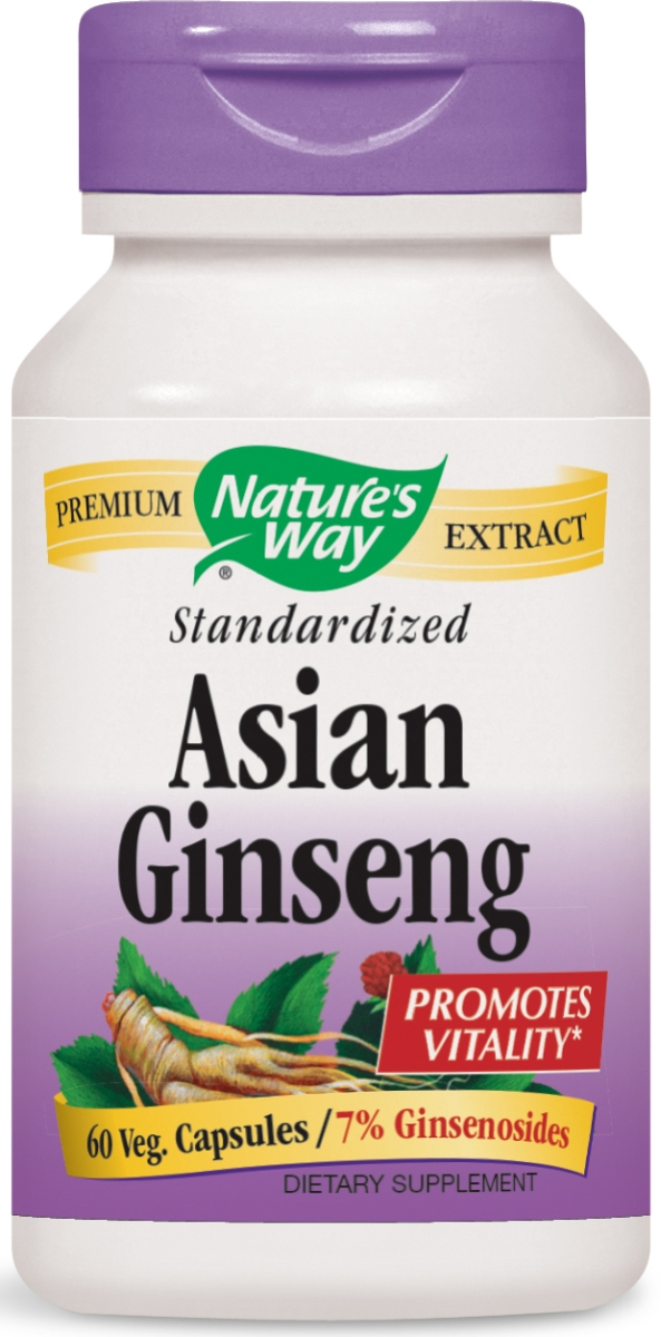 Korean Ginseng Standardized Extract 60 Vcaps by Nature's Way