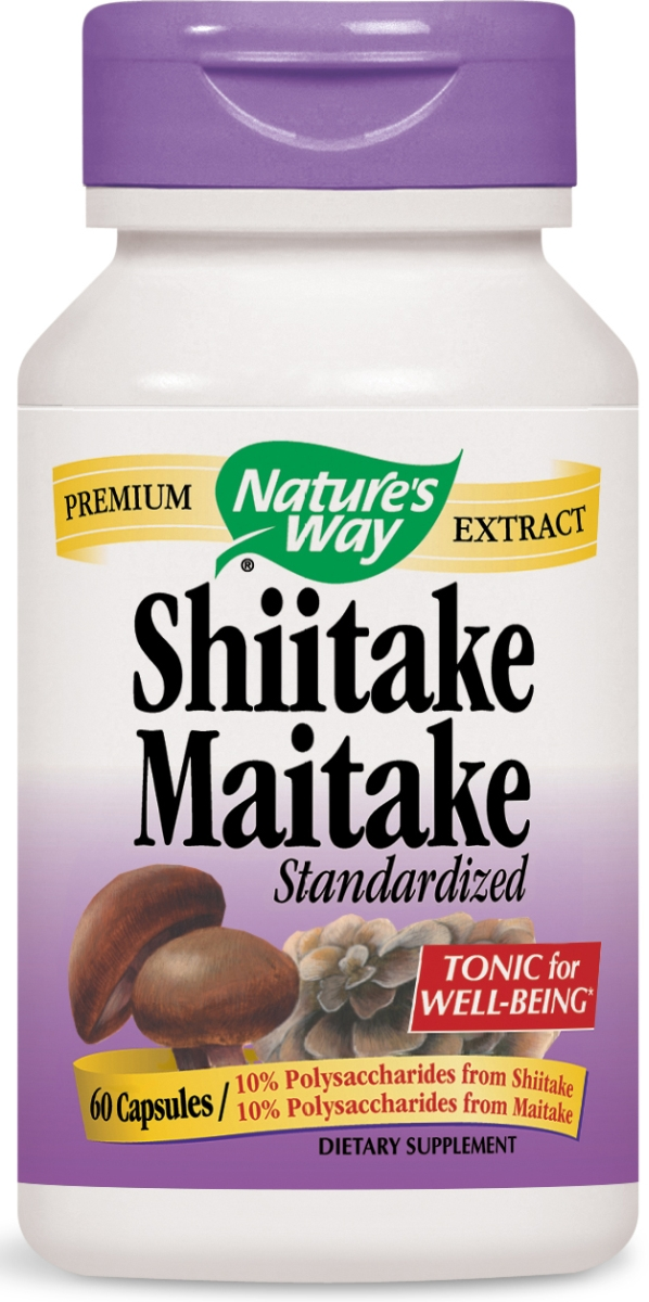 Shiitake Maitake Standardized Extract 60 caps by Nature's Way