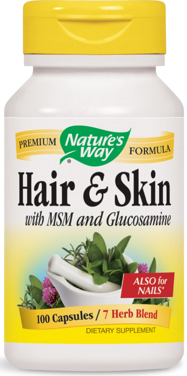 Hair & Skin with MSM and Glucosamine 599 mg 100 caps by Nature's Way