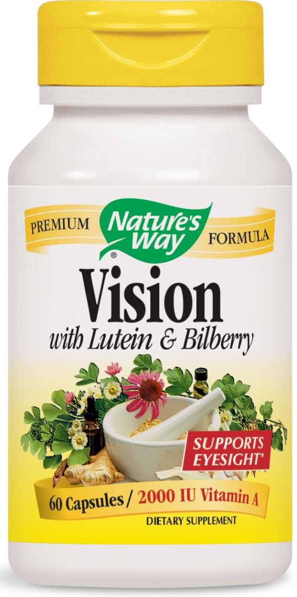 Vision with Lutein & Bilberry 448 mg 60 caps by Nature's Way