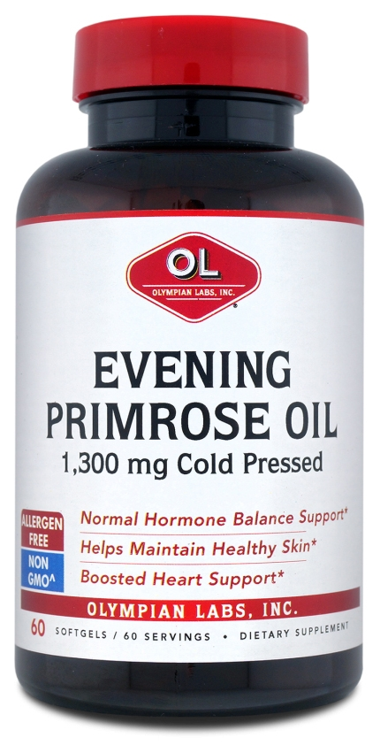 Evening Primrose Oil 1.3 grams (1,300 mg) 60 sgels by Olympian Labs