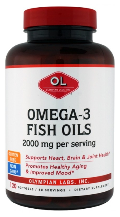 Omega-3 Fish Oils 2000 mg 120 sgels by Olympian Labs