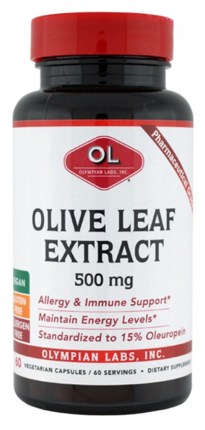 Olive Leaf Extract 500 mg 60 caps by Olympian Labs