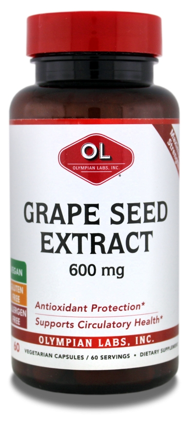 Grape Seed Extract 600 mg 60 Vcaps by Olympian Labs