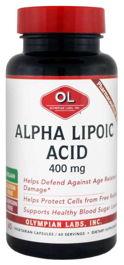 Alpha Lipoic Acid 400 mg 60 Vegetarian Caps by Olympian Labs
