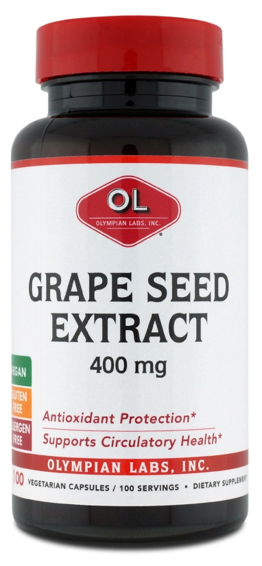 Grape Seed Extract 400 mg 100 Vegetarian Caps by Olympian Labs