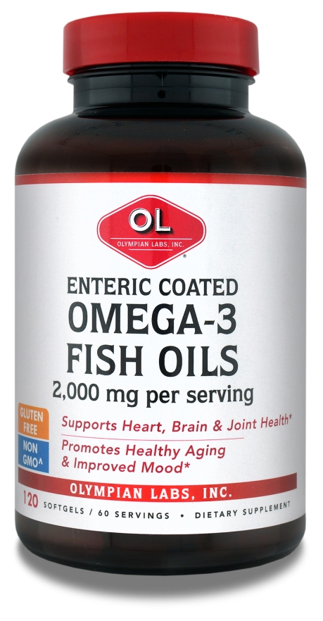 Omega-3 Fish Oils Enteric Coated 2000 mg 120 Sgels by Olympian Labs