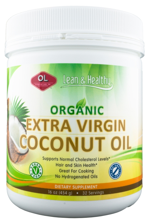 Organic Extra Virgin Coconut Oil 16 fl oz (473 ml) by Olympian Labs