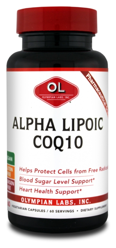 Alpha Lipoic CoQ10 200 mg 60 Vegetarian Caps by Olympian Labs