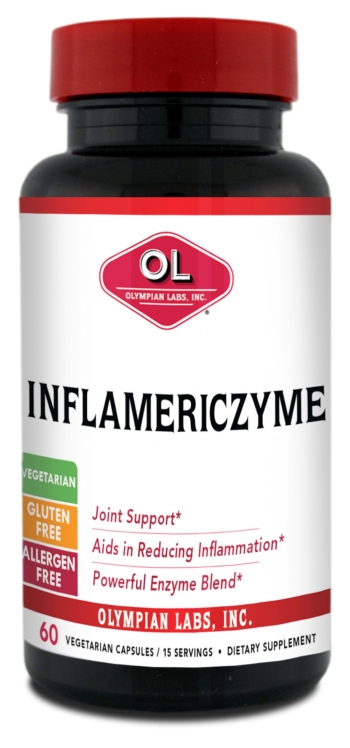 Inflamericzyme 60 Vegetarian Caps by Olympian Labs