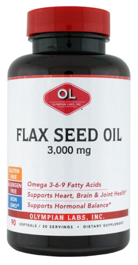 Flax Seed Oil / High Lignans 90 sgels by Olympian Labs