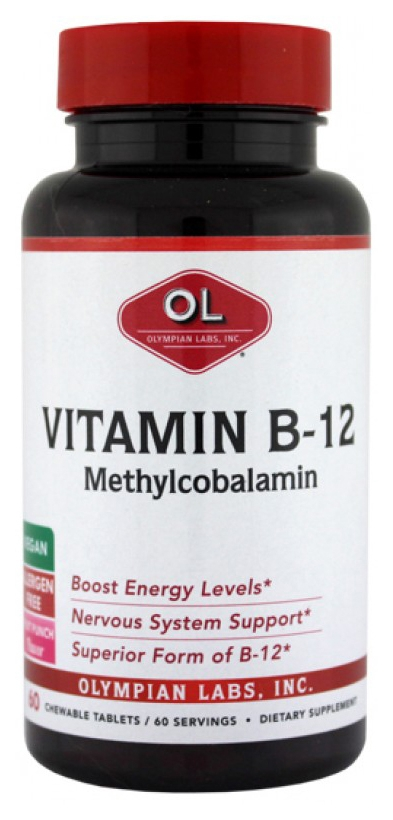 Mighty Methyl B-12 60 Instant Dissolving tabs by Olympian Labs