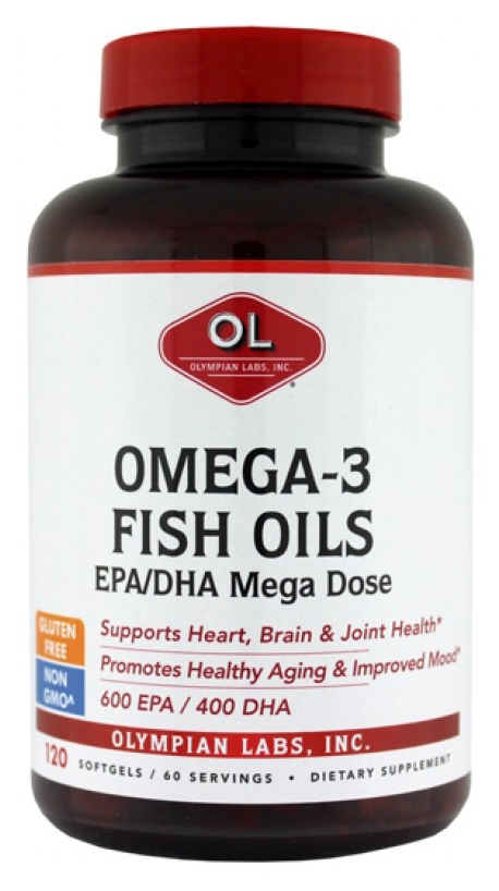 Mega Omega-3 Fish Oils 2000 mg 120 sgels by Olympian Labs