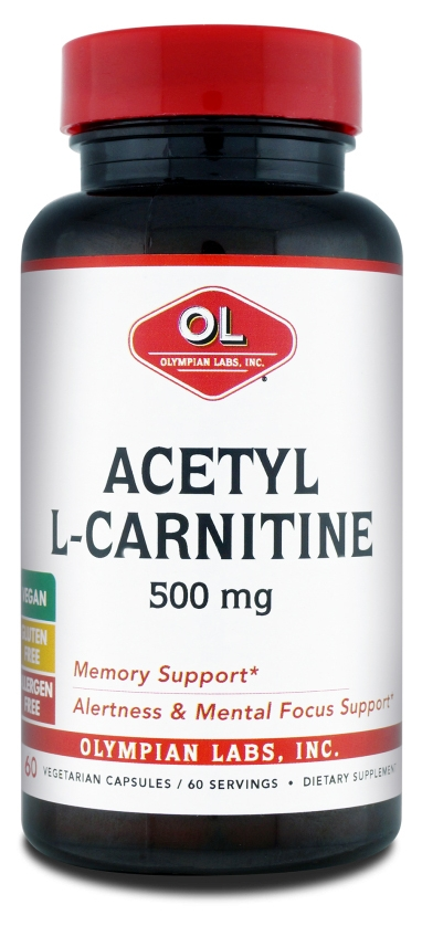 Acetyl L-Carnitine 500 mg 60 Vegetarian Caps by Olympian Labs