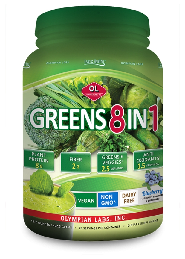 Greens Protein (8 in 1) 1 lb 7.1 oz (775 g) powder by Olympian Labs