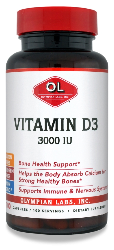 Vitamin D3 3000 IU 100 caps by Olympian Labs