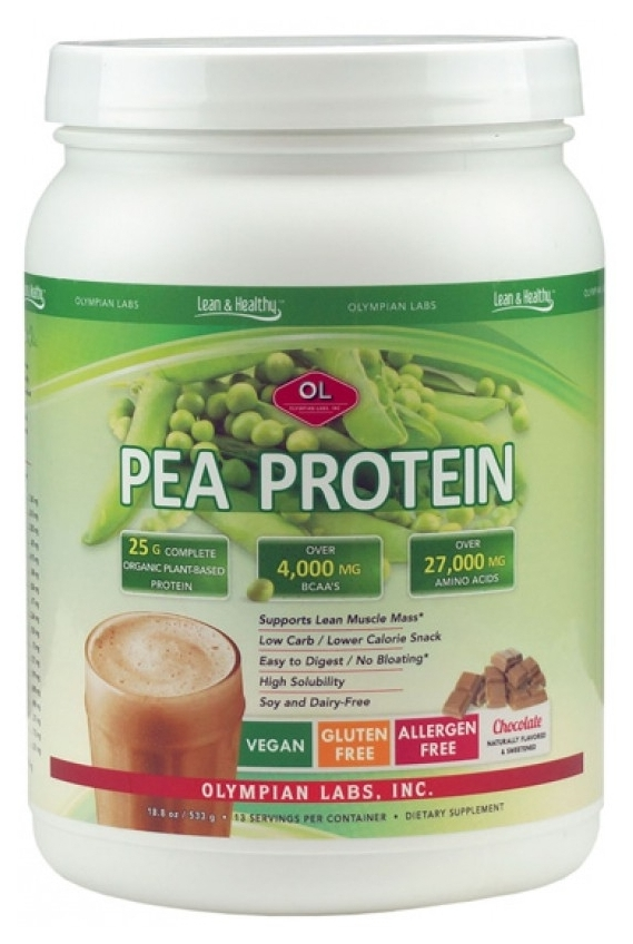 Pea Protein Chocolate Flavor 1lb 1.6 oz (500 g) by Olympian Labs