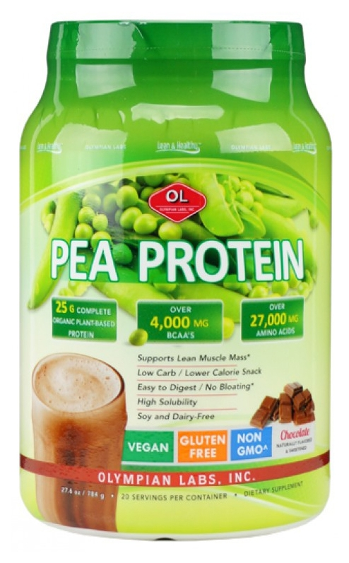 Pea Protein Chocolate Flavor 1lb 13 oz (821.04 g) by Olympian Labs