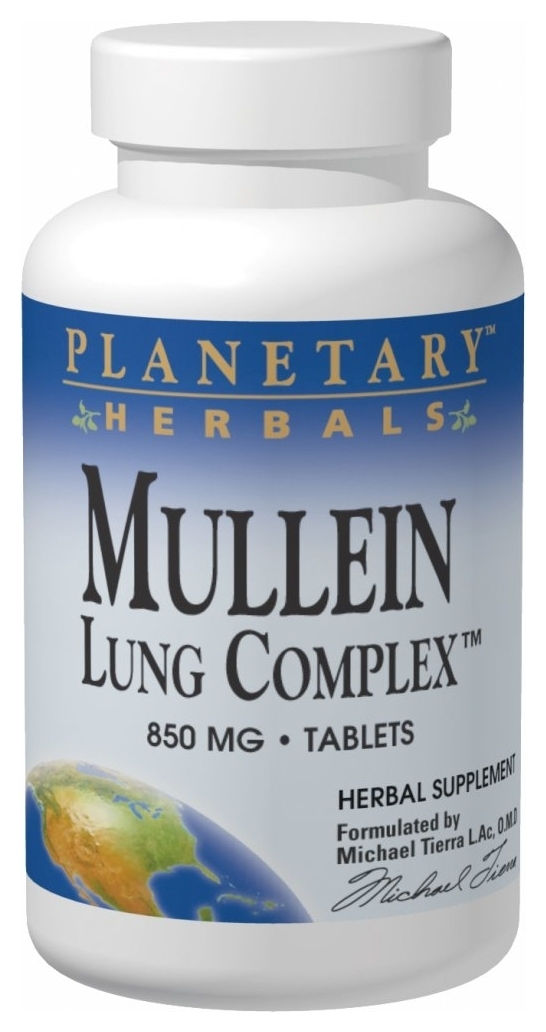 Mullein Lung Complex 850 mg 90 tabs by Planetary Herbals