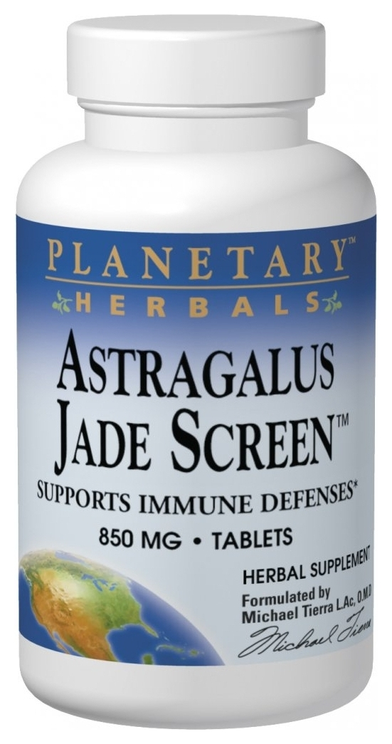 Astragalus Jade Screen 850 mg 100 tabs by Planetary Herbals