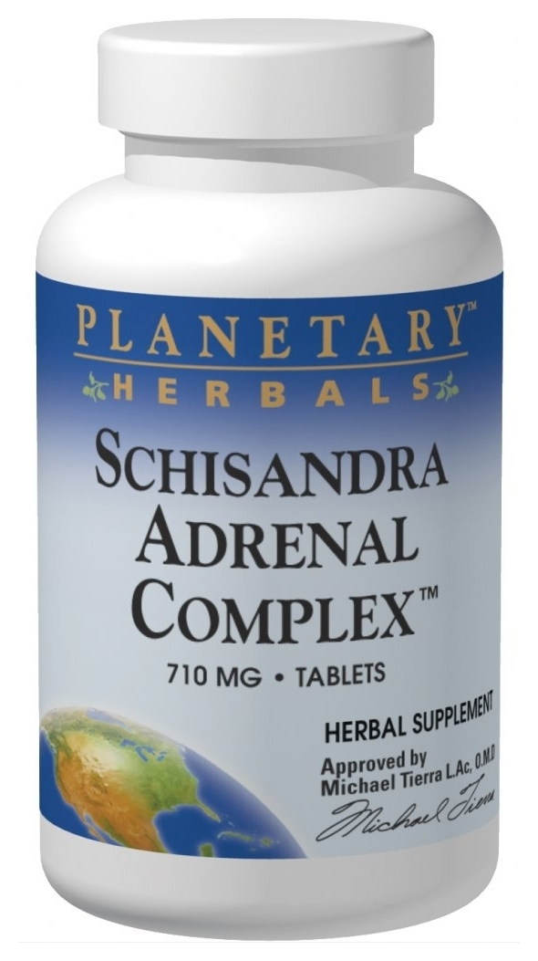 Schisandra Adrenal Complex 710 mg 120 tabs by Planetary Herbals
