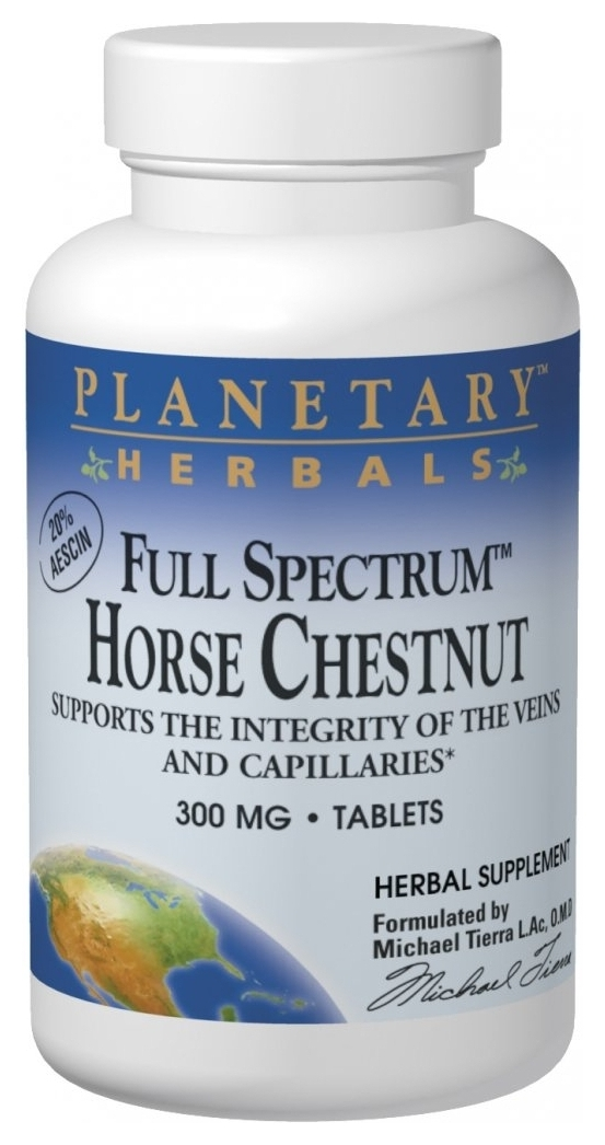 Horse Chestnut Full Spectrum 300 mg 120 tabs by Planetary Herbals