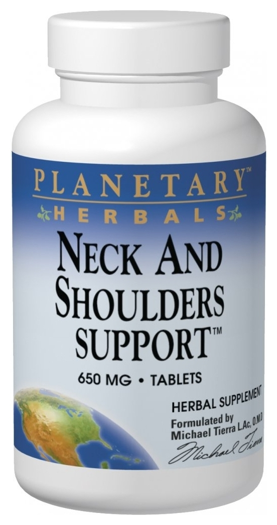 Neck and Shoulders Support 650 mg 60 tabs by Planetary Herbals
