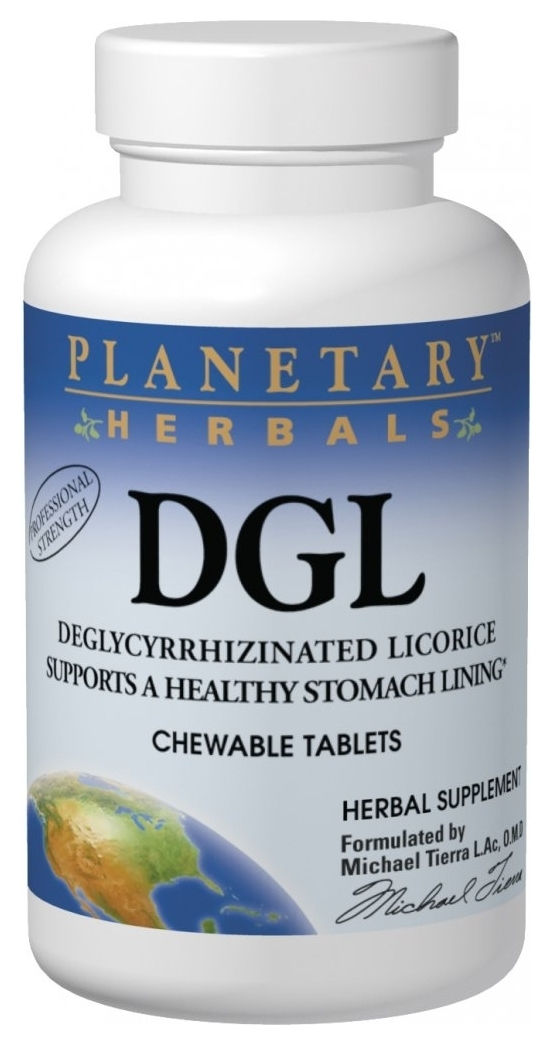 DGL Deglycyrrhizinated Licorice 200 Chewable tabs by Planetary Herbals