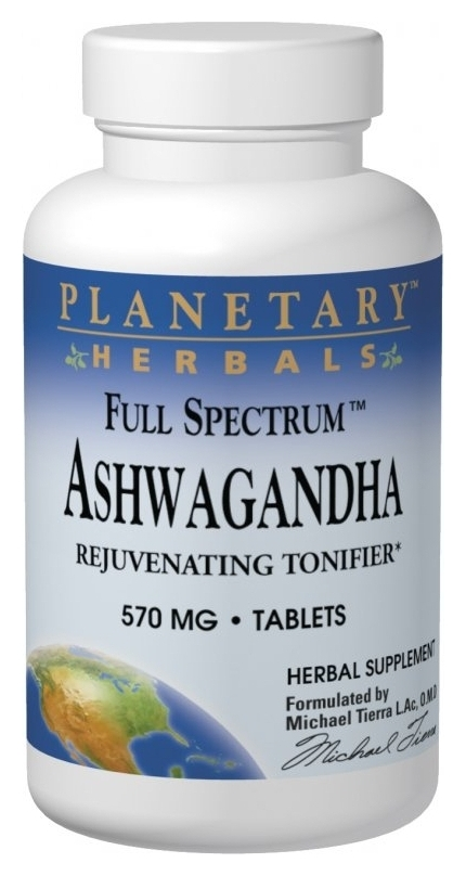 Ashwagandha Full Spectrum 570 mg 120 tabs by Planetary Herbals