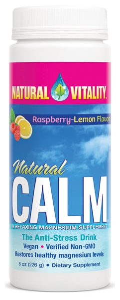 Natural Calm Raspberry-Lemon 8 oz by Peter Gillham's Natural Vitality